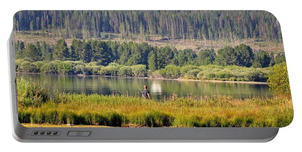 George Town Portable Battery Charger featuring the photograph Fishing At George Town Lake by Image Takers Photography LLC - Laura Morgan