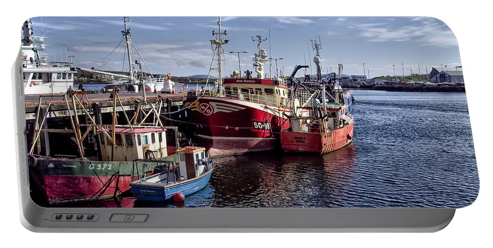 Fishing Portable Battery Charger featuring the photograph Fishing Boats In Killybegs Donegal Ireland by Bill Cannon