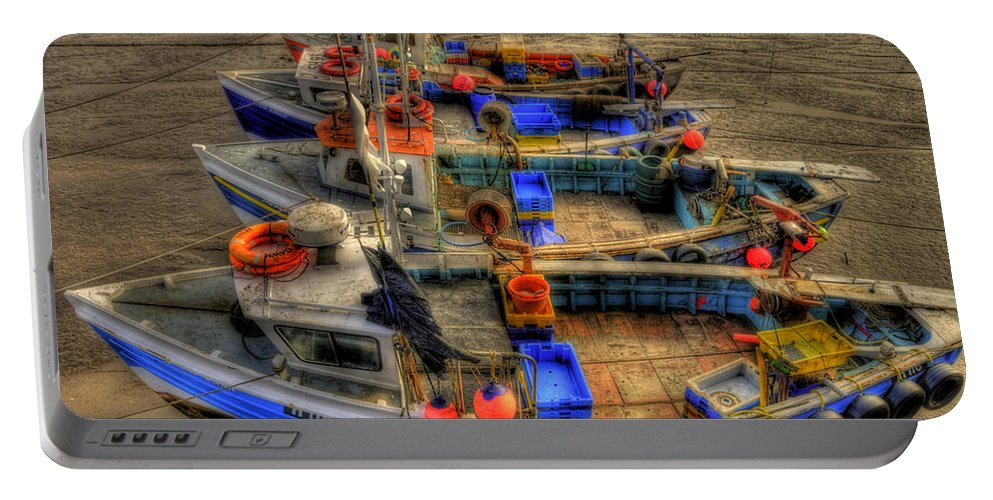 Sand Portable Battery Charger featuring the photograph Fishing Boats by Svetlana Sewell