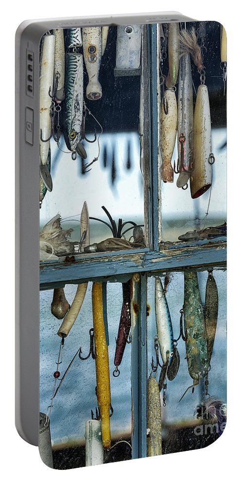 Chilmark Portable Battery Charger featuring the photograph Fishing Shack by John Greim