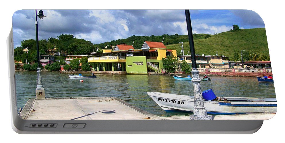 Fishing Portable Battery Charger featuring the photograph Fishing Village Puerto Rico by Marilyn Holkham