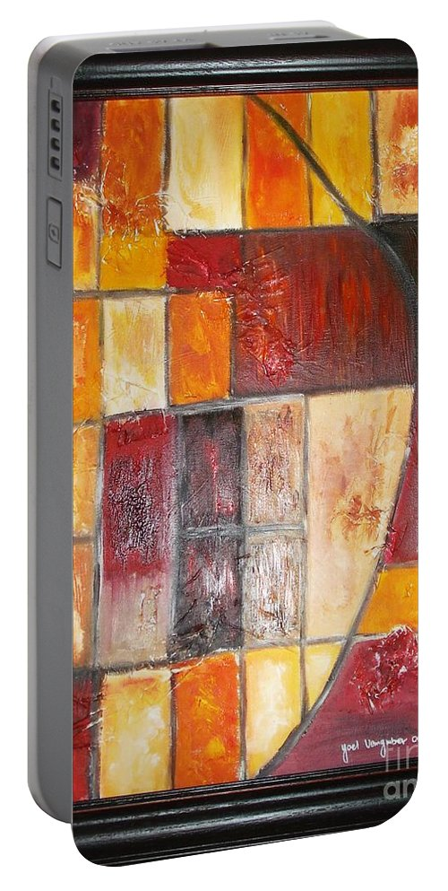 Oil Painting Portable Battery Charger featuring the painting Fit by Yael VanGruber