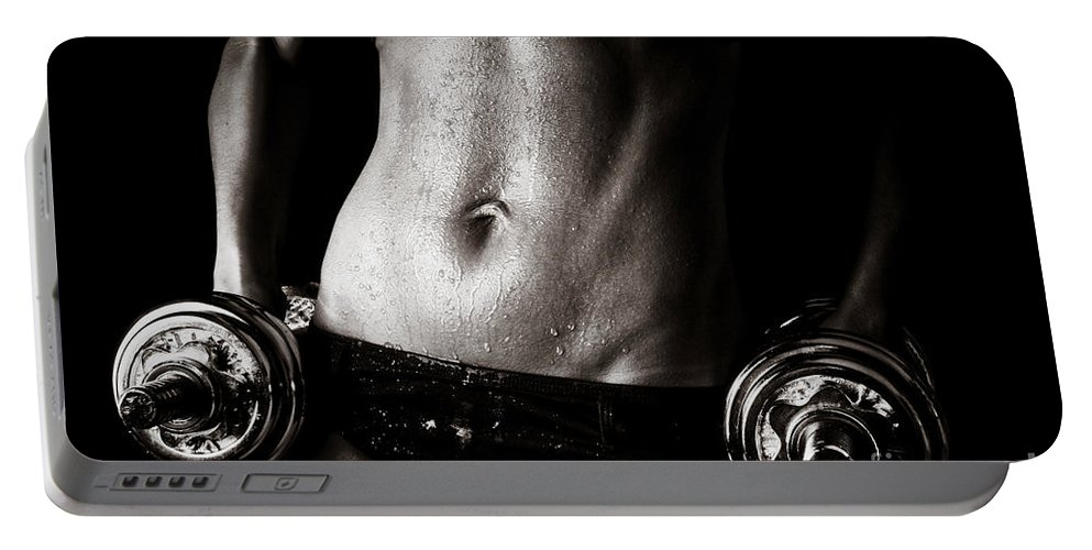 Fit Portable Battery Charger featuring the photograph Fitness Motivation by Jt PhotoDesign