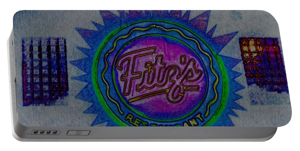 Portable Battery Charger featuring the photograph Fitz's Inverted And Painted by Kelly Awad