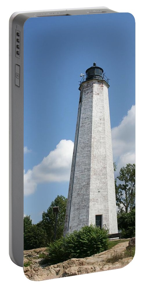 Karen Silvestri Portable Battery Charger featuring the photograph Five Mile Point Lighthouse by Karen Silvestri