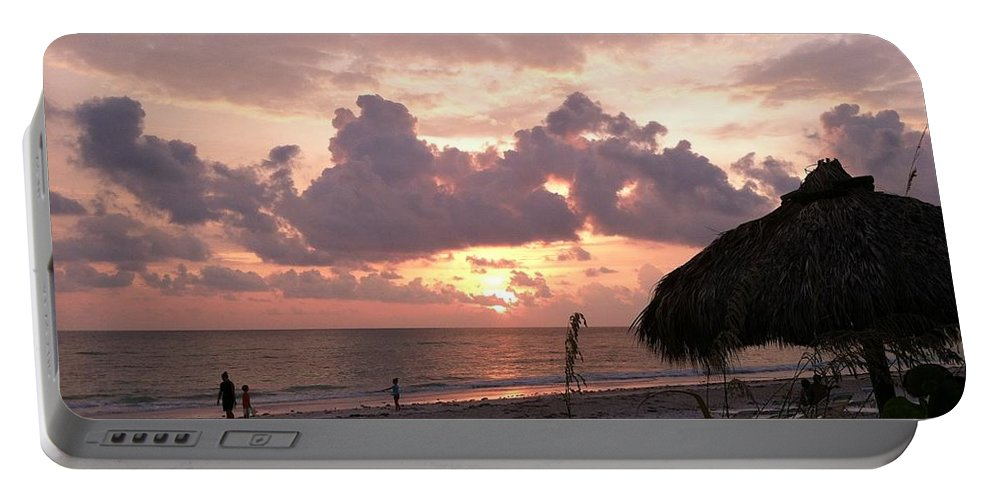 Sunset Portable Battery Charger featuring the photograph Five O Clock Somewhere by Melissa Darnell Glowacki