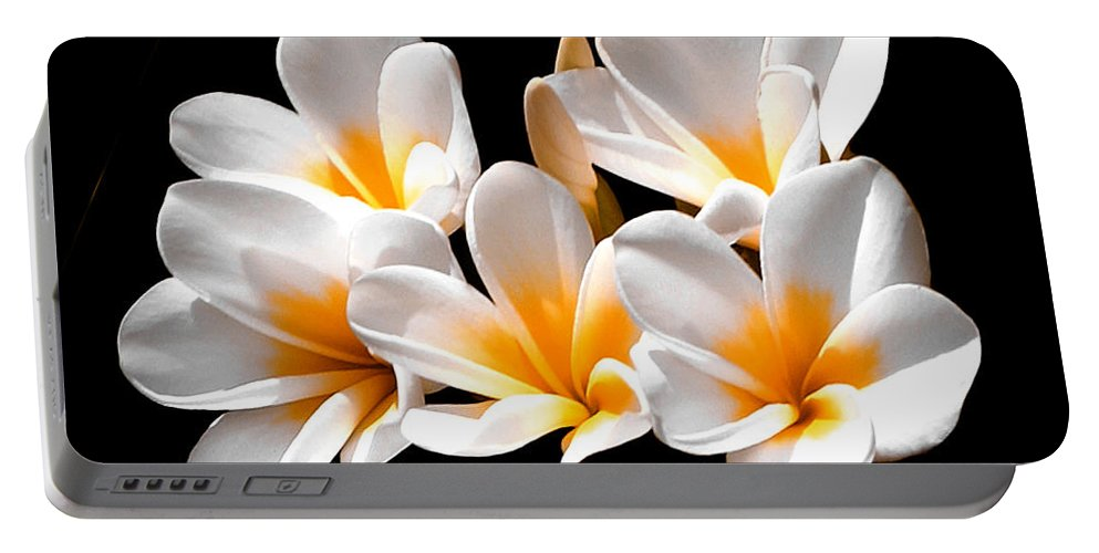 Flower Portable Battery Charger featuring the photograph Five Star by Doug Heslep