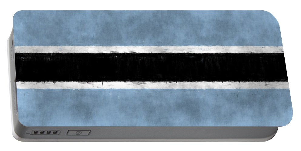 Africa Portable Battery Charger featuring the digital art Flag Of Botswana by World Art Prints And Designs