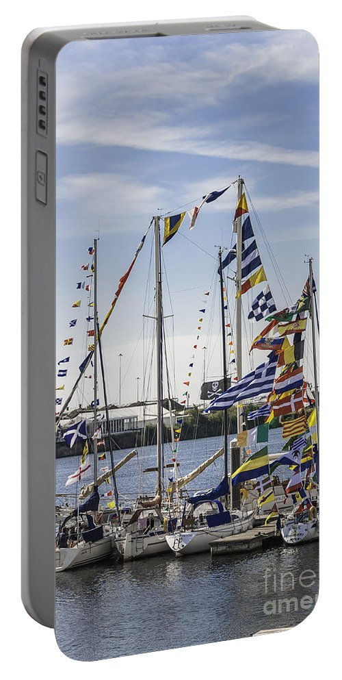 Yachts Portable Battery Charger featuring the photograph Flags Of The World 2 by Steve Purnell