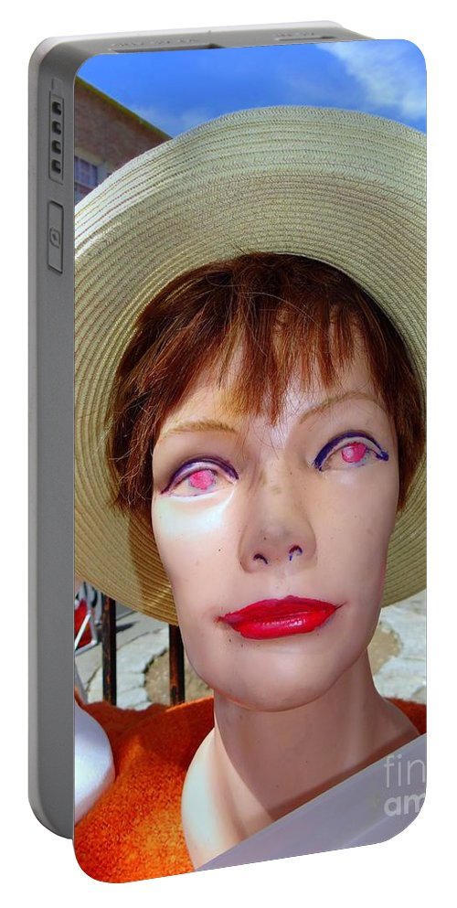 Mannequins Portable Battery Charger featuring the photograph Flea Market Fabulous by Ed Weidman