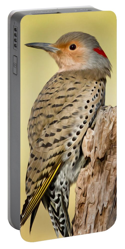 Flicker Portable Battery Charger featuring the photograph Flicker by Bill Wakeley
