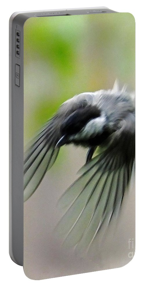 Chickadee Portable Battery Charger featuring the photograph Flight II by Lizi Beard-Ward