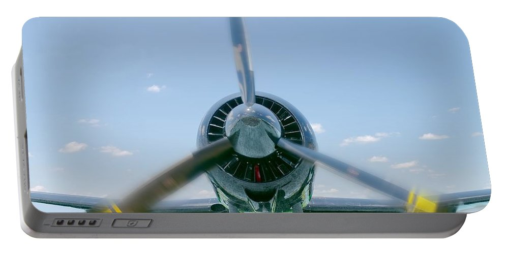 Airplane Portable Battery Charger featuring the photograph Flight In Color by Rudy Umans