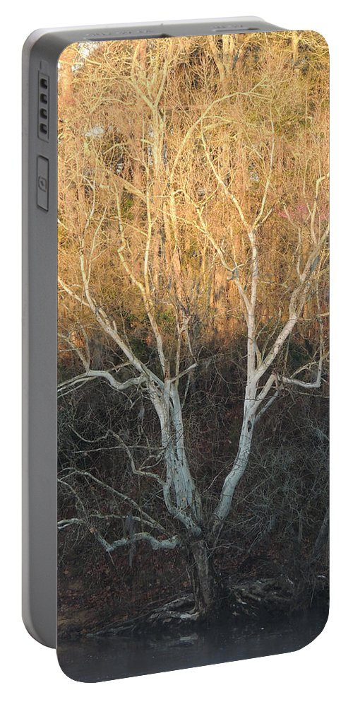 Digital Photography Portable Battery Charger featuring the photograph Flint River 12 by Kim Pate