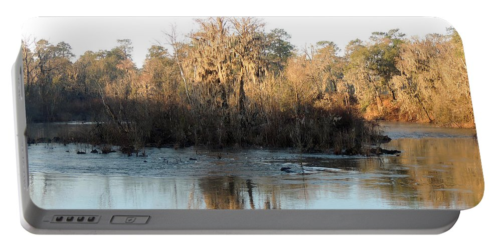 Digital Photography Portable Battery Charger featuring the photograph Flint River 27 by Kim Pate