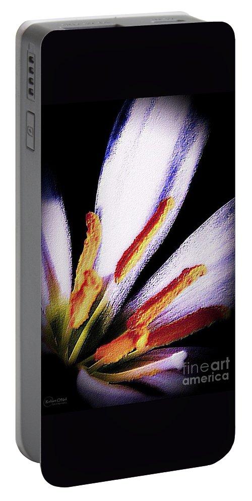 Flower Portable Battery Charger featuring the photograph Flirtation by Robert ONeil