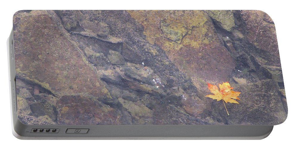 Nature Portable Battery Charger featuring the photograph Floating Down The River by Katie Wing Vigil