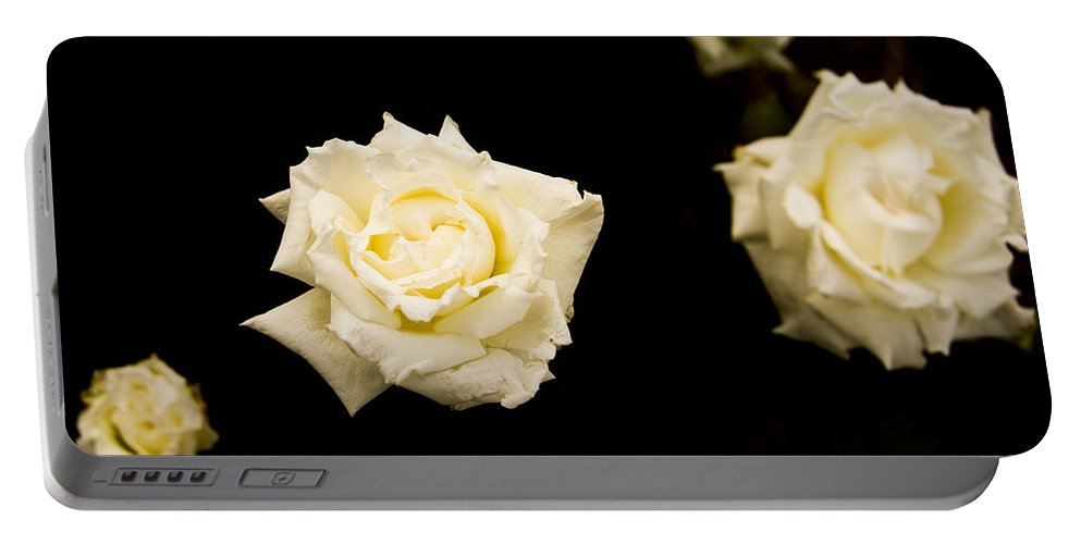Flowers Portable Battery Charger featuring the photograph Floating In Darkness by Theodore Jones