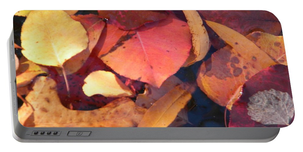Floating Portable Battery Charger featuring the photograph Floating Leaves by Nathanael Smith