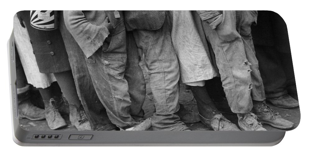 1937 Portable Battery Charger featuring the photograph Flood Refugees, 1937 by Granger
