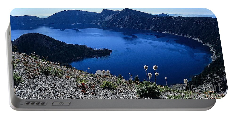 Crater Lake Portable Battery Charger featuring the photograph Flora Of Crater Lake by Sharon Elliott