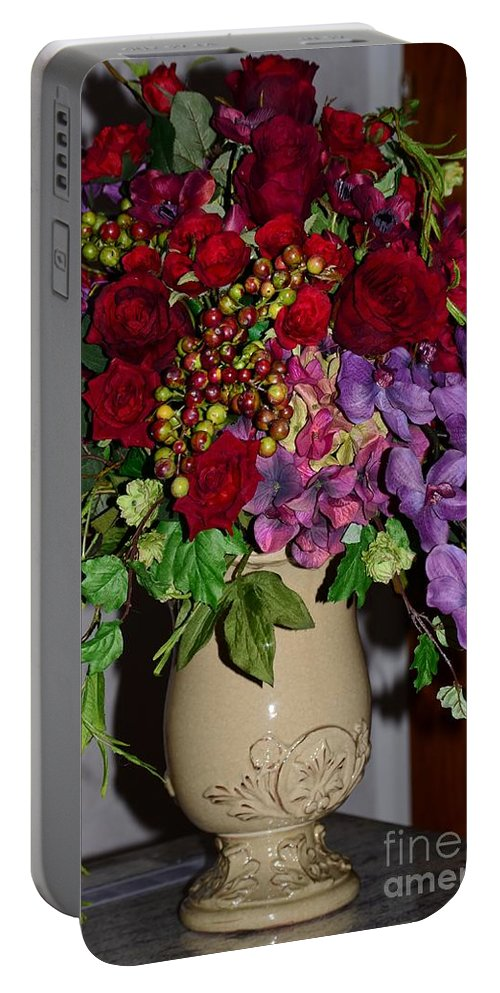 Flower Portable Battery Charger featuring the photograph Floral Decor by Kathleen Struckle