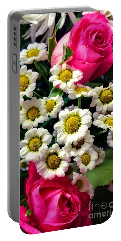 Floral Portable Battery Charger featuring the photograph Floral Decoration by Lisa Byrne