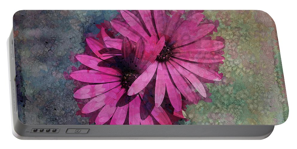 Floral Portable Battery Charger featuring the photograph Floral Fiesta by Variance Collections