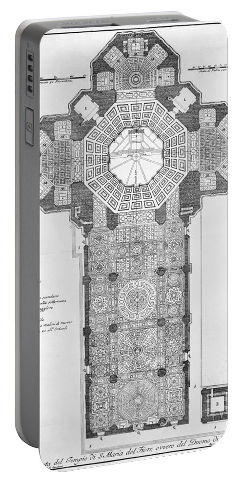 18th Century Portable Battery Charger featuring the photograph Florence: Cathedral by Granger