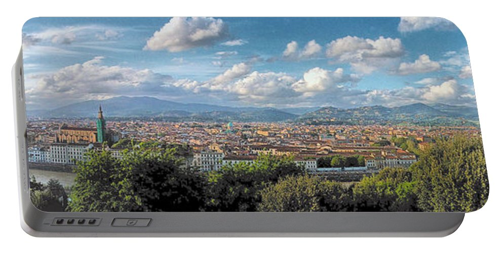Florence Portable Battery Charger featuring the photograph Florence Panorama by C H Apperson