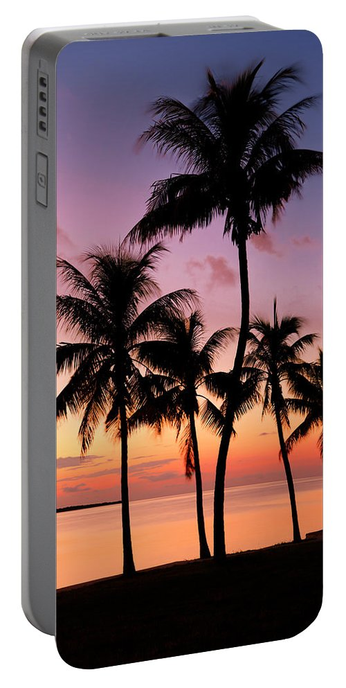 Sunset Portable Battery Charger featuring the photograph Florida Breeze by Chad Dutson