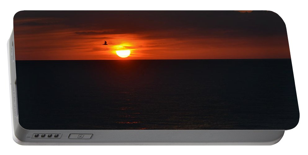 Sunset Portable Battery Charger featuring the photograph Florida Sunset by Debbi Granruth