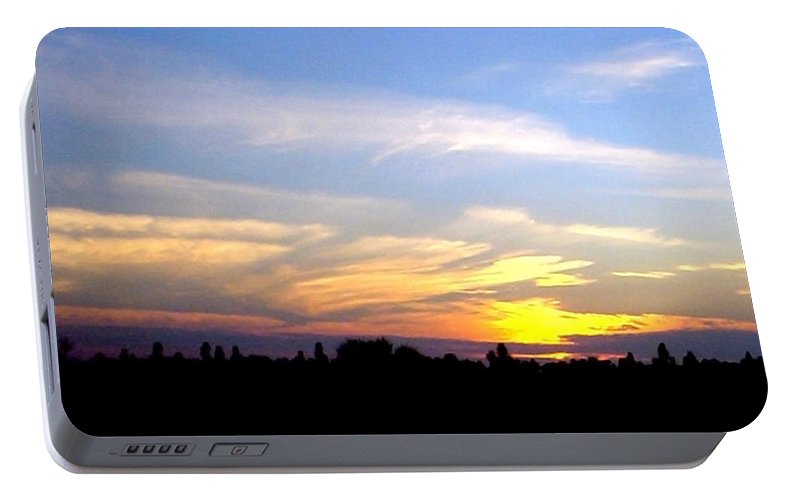 Sunset Portable Battery Charger featuring the photograph Florida Sunset by Norman Johnson