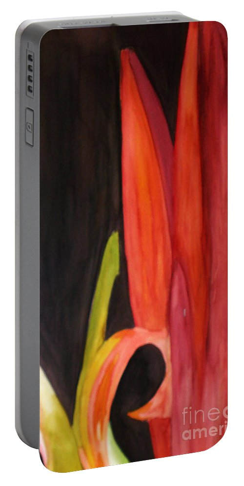 Flower Image Portable Battery Charger featuring the painting Flourish by Yael VanGruber