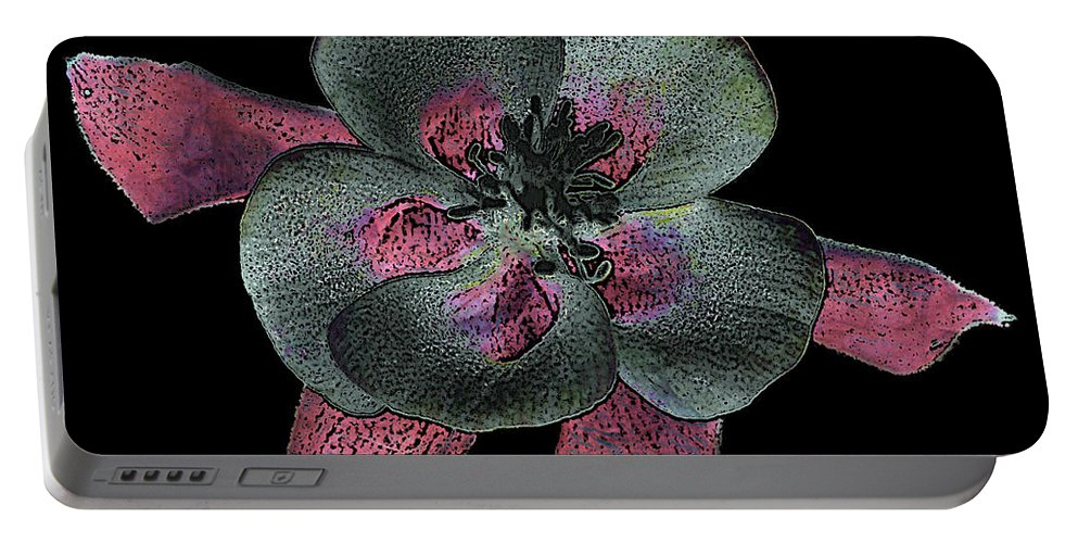 Flower Portable Battery Charger featuring the photograph 10177 Columbine by Colin Hunt