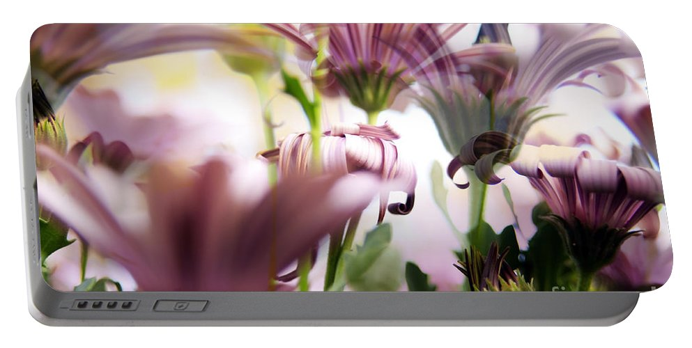 Background Portable Battery Charger featuring the photograph Flower Background by Tim Hester
