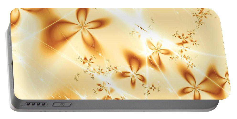 Plant Portable Battery Charger featuring the digital art Flower Breeze by Anastasiya Malakhova