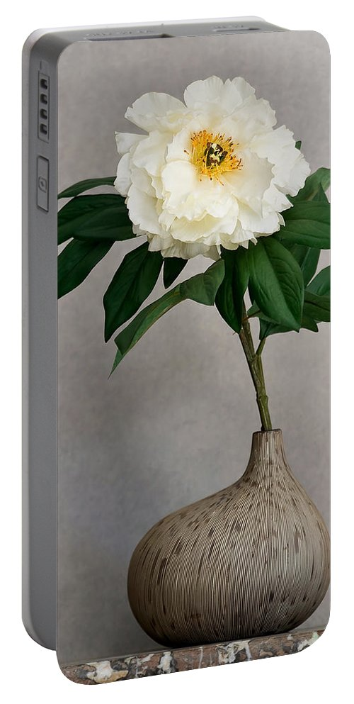 Flower Portable Battery Charger featuring the photograph Flower In Vase by Jean-Pierre Ducondi