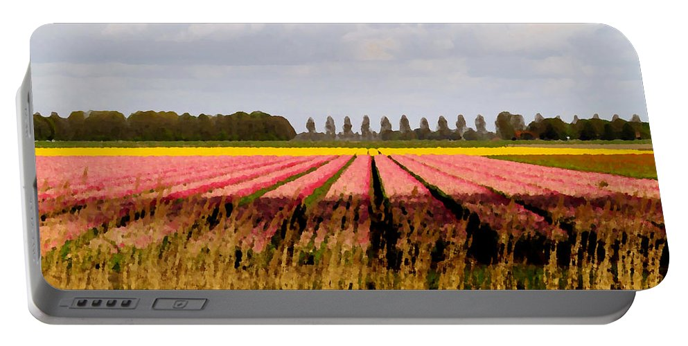 Photography Portable Battery Charger featuring the photograph Flower My Bed by Luc Van de Steeg