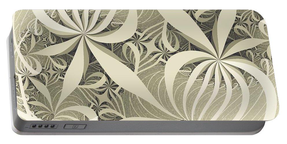 Malakhova Portable Battery Charger featuring the digital art Flower Swirl by Anastasiya Malakhova