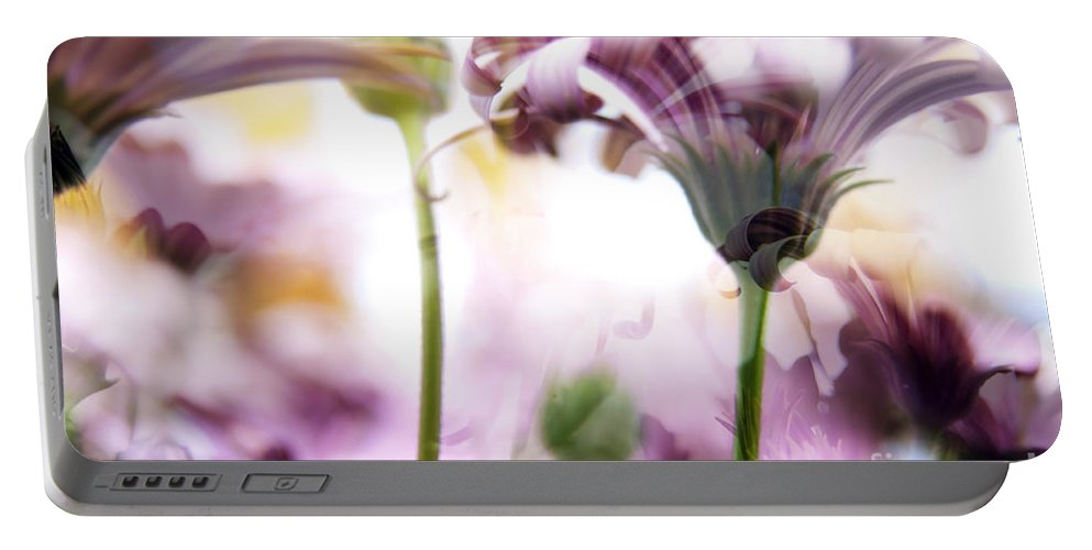 Background Portable Battery Charger featuring the photograph Flower by Tim Hester