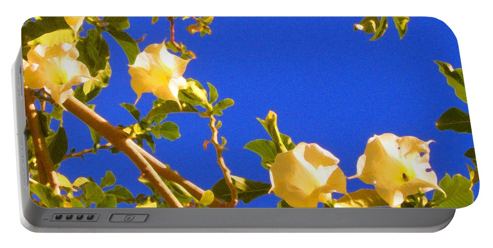 Landscapes Portable Battery Charger featuring the painting Flowering Tree 1 by Amy Vangsgard