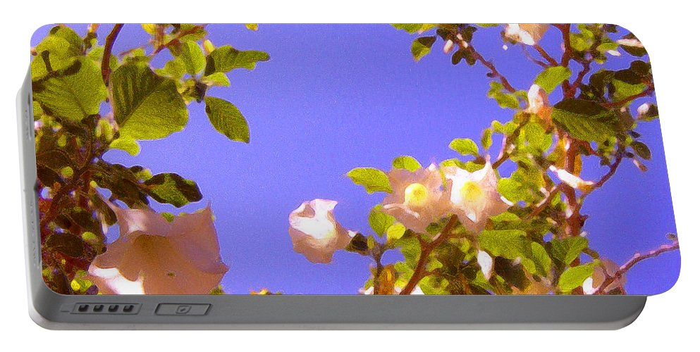 Landscapes Portable Battery Charger featuring the painting Flowering Tree 2 by Amy Vangsgard