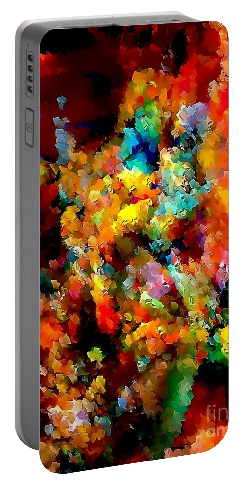 Graphics Portable Battery Charger featuring the digital art Flowers 0525 Marucii by Marek Lutek