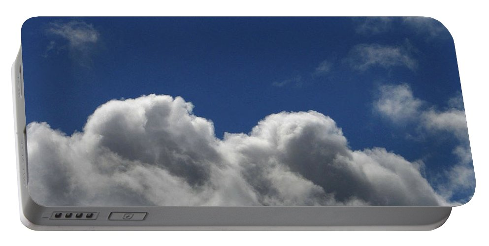 Clouds Portable Battery Charger featuring the photograph Fluffy Clouds 1 by Carol Lynch