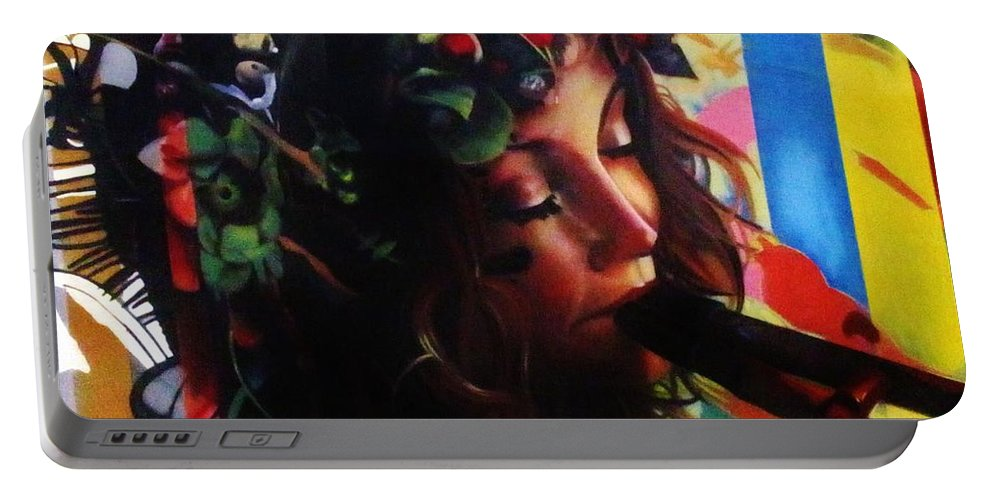 Kerisart Portable Battery Charger featuring the photograph Fluting Fairy by Keri West