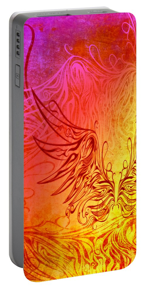 Wing Portable Battery Charger featuring the digital art Fly Away 3 by Angelina Vick