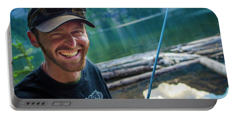 Colorado Portable Battery Charger featuring the photograph Fly Fishing Emerald Lake, Weminuche by Jeremy Wade Shockley