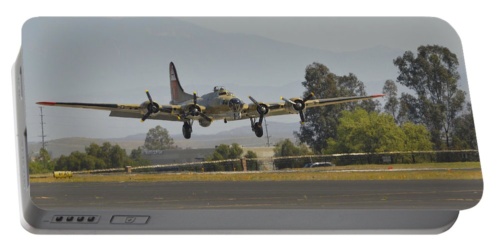 Boeing B-17g Flyingfortress Portable Battery Charger featuring the photograph Flying Fortress by Tommy Anderson