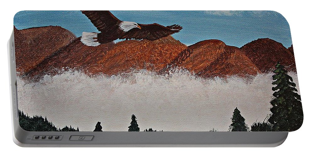 Barbara Griffin Portable Battery Charger featuring the painting Flying High by Barbara Griffin